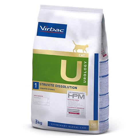 Virbac Veterinary HPM Cat Urology 1 Struvite Dissolution