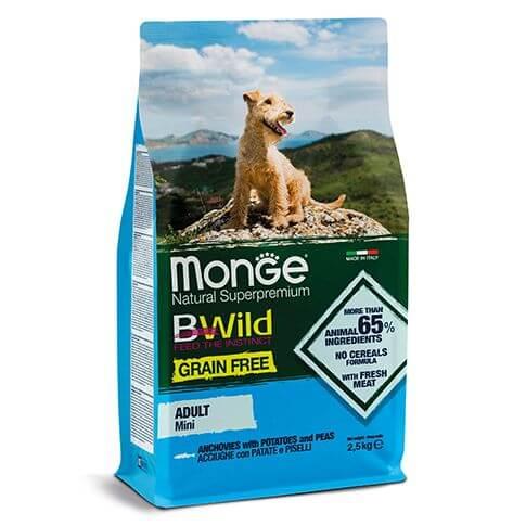 Monge BWild Grain Free Adult Mini Anchovy
