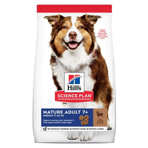 Hill's Science Plan Hund Mature Adult 7+ Medium Lamm + Reis