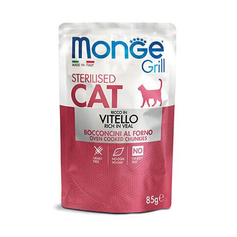 Monge Grill Cat Sterilised Veal