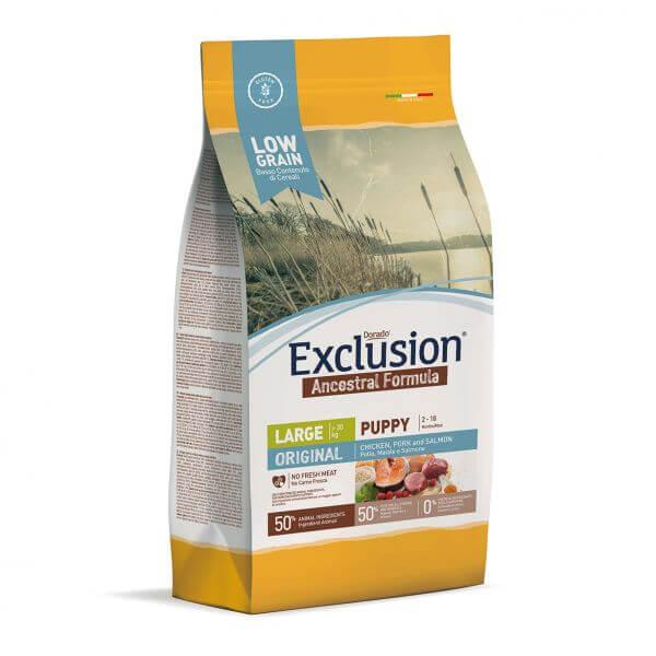 Exclusion Ancestral Low Grain Large Breed mit Huhn, Schwein und Lachs