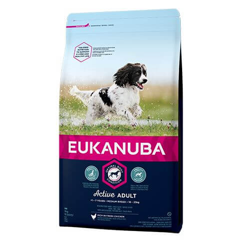 Eukanuba Active Adult Medium mit Huhn