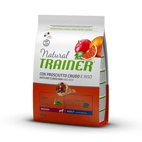 Trainer Natural Dog Adult Medium with Dry-Cured Ham and Rice