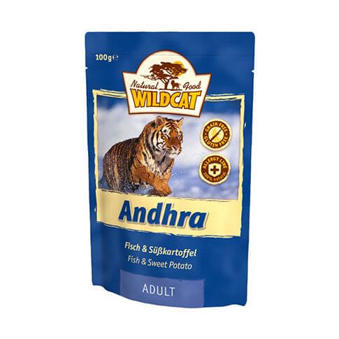 Wildcat Andhra Fisch & Süsskartoffel - Beutel