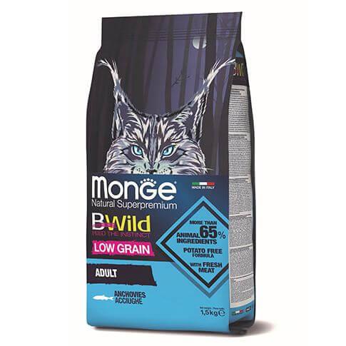 Monge Cat BWild Low Grain Adult Anchovies