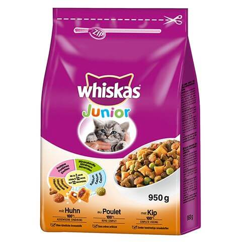 Whiskas 2-12M Junior 950g