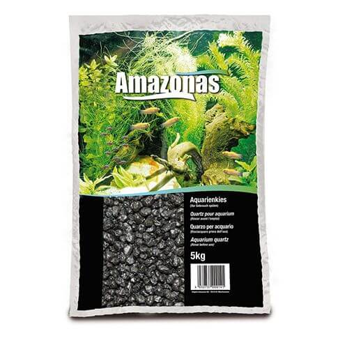 Amazonas Aquarienkies schwarz 2-3mm