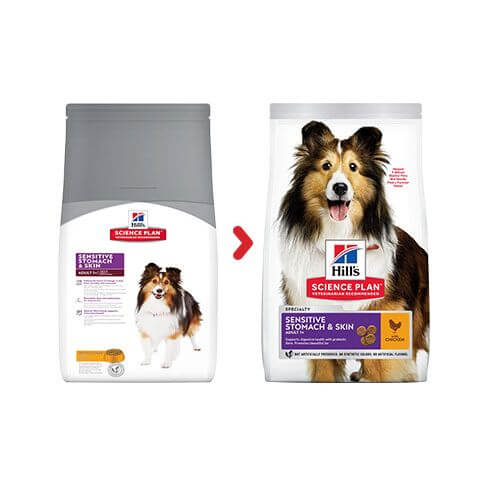 Hill's Canine Adult Sensitive Stomach & Skin Huhn