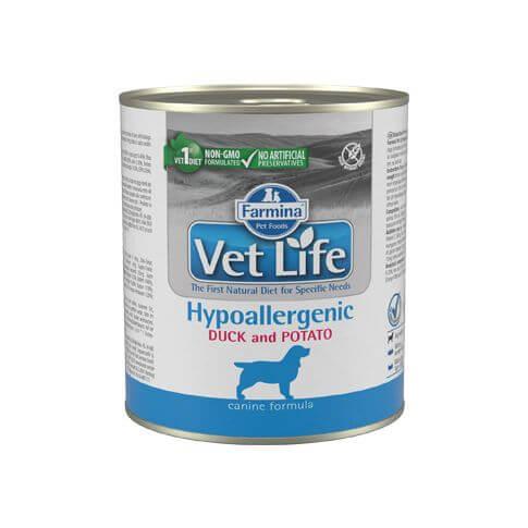 Canine Adult VetLife Hypoallergenic Ente