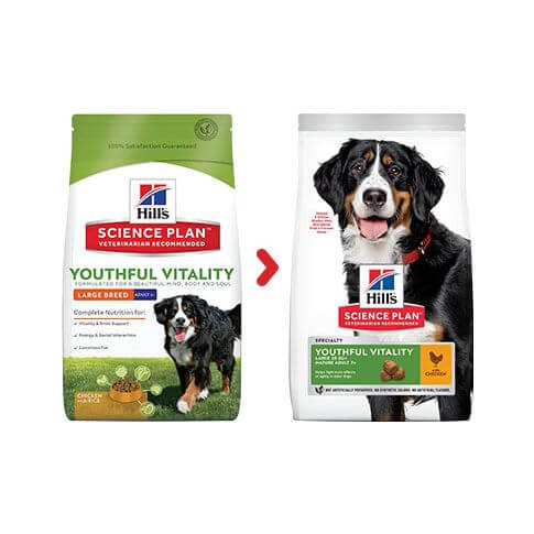 Hill's Canine Adult 5+ Youthful Vitality Large Breed Huhn & Reis