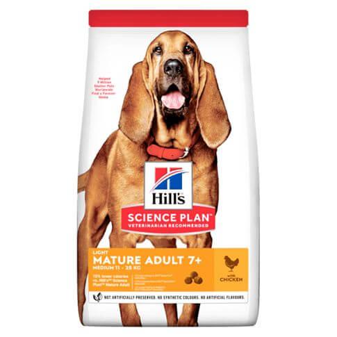 Hill's Science Plan Hund Mature Adult 7+ Light Medium Huhn