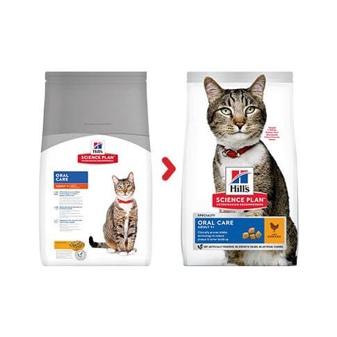 Hill's Feline Adult Oral Care Huhn