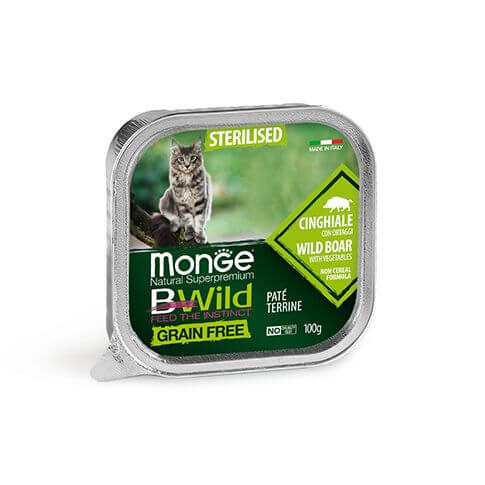 Monge Cat Bwild GF Sterilised Boar