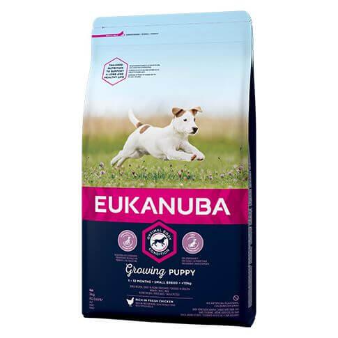 Eukanuba Growing Puppy Small mit Huhn