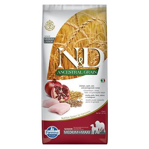 Farmina Ancestral Grain Senior Medium/Maxi Huhn & Granatapfel