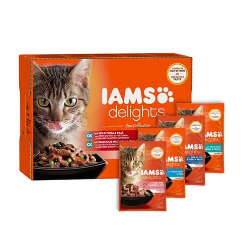 IAMS Delights Adult See Mix in Sauce