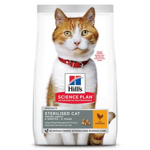 Hill's Science Plan Katze Young Adult Sterilised Cat Huhn