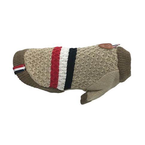 Hundepullover T-Style hellbraun