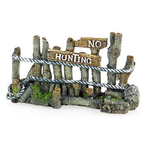 Aquarium-Deko No hunting Hag