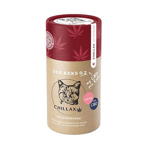 Chillax Katzenkekse mit Lachs 0.2mg CBD
