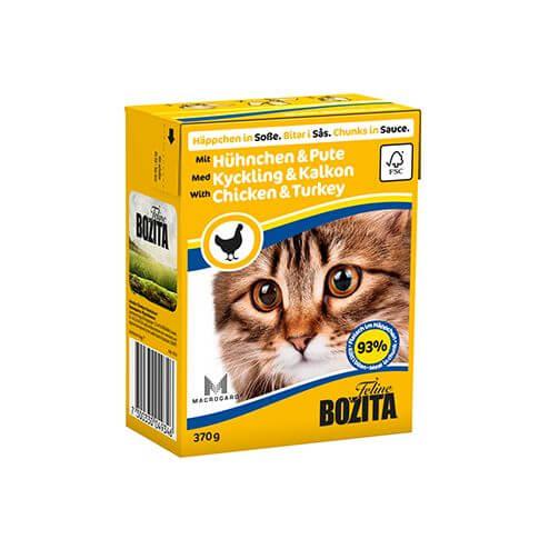 Bozita Cat Häppchen in Sosse Hühnchen + Pute