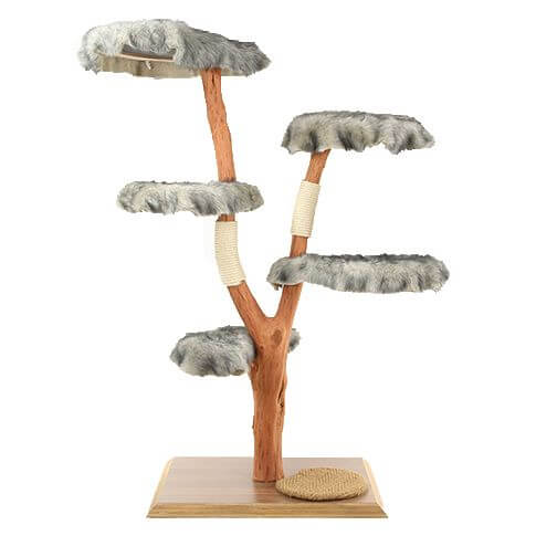 Echtholz Kratzbaum mit 5 Liegeflächen