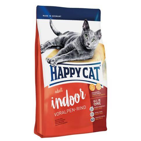 Happy Cat Supreme Adult Indoor mit Voralpen-Rind