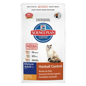 Feline Mature Adult Senior Hairball Control Huhn