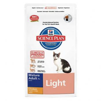 Feline Mature Adult Senior Light Huhn