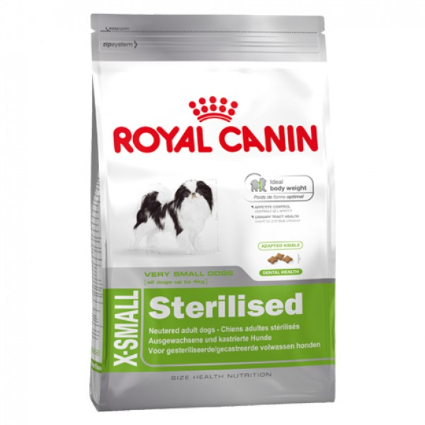 royal canin dog x small sterilised g nstig bestellen. Black Bedroom Furniture Sets. Home Design Ideas